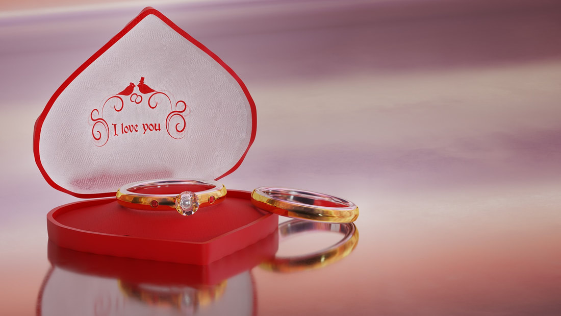 gold wedding rings with heart shaped box, red heart ring box, wedding rings