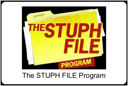 The STUPH FILE Podcast logo