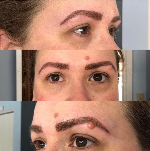 After Microblading Eyebrows