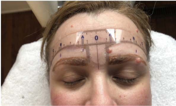 measuring for microblading