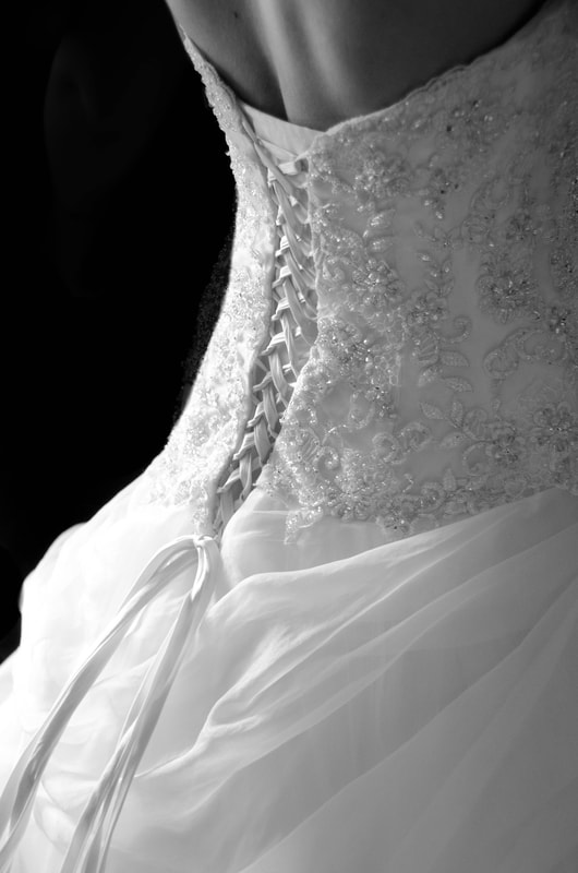 back of lace up wedding dress